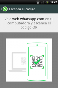 WhatsApp QR Code Screen shot
