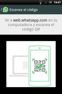 WhatsApp QR Code Screen shot