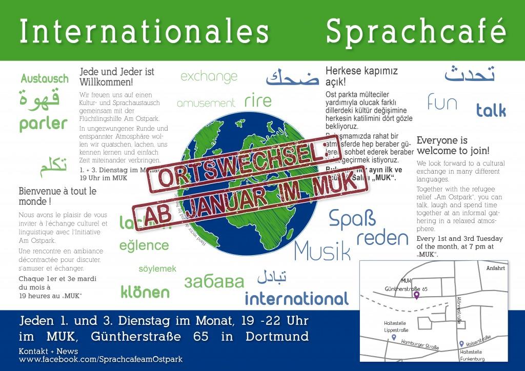 Internationales Sprachcafé Dortmund - Ortswechsel, MUK Güntherstraße 65, Dortmund